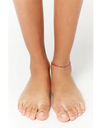 Forever 21 - Multicolor Bead-accent Anklet - Lyst