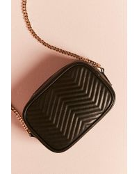 Forever 21 - Black Faux Leather Crossbody Bag - Lyst