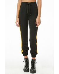 Forever 21 - Black Side-striped Drawstring Joggers - Lyst