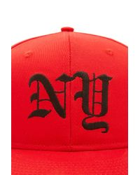Forever 21 - Red Men Ny Snapback Hat for Men - Lyst