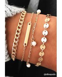 Forever 21 - Metallic Curb Chain Bracelet Set - Lyst