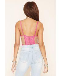 Forever 21 - Multicolor Floral Lace Bodysuit - Lyst