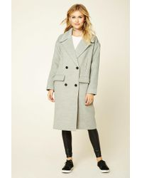 Forever 21 | Gray 1988 Patch Double-breasted Coat | Lyst