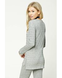 Forever 21 - Gray Marled-knit Ribbed Top - Lyst