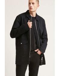 Forever 21 - Black Longline Utility Jacket for Men - Lyst