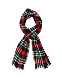 Forever 21 - Red Plaid Oblong Scarf - Lyst