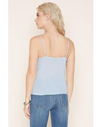 Forever 21 - Blue Ruffle-trim Cami - Lyst