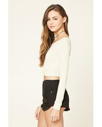 Forever 21 - Multicolor Twist-front Crop Top - Lyst