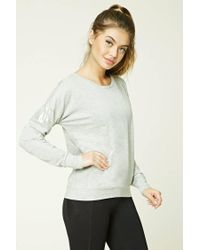 Forever 21 | Gray Active Metallic-insert Top | Lyst