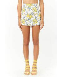 Forever 21 - Multicolor Floral Print Mini Skirt - Lyst