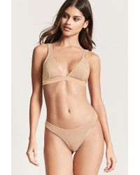 Forever 21 Multicolor Metallic Knit Thong