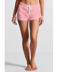 Forever 21 - Pink Fleece Knit Pj Shorts - Lyst