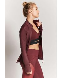 Forever 21 - Red Active Zip-front Jacket - Lyst