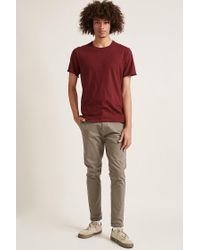Forever 21 Red 's Knit Crew Neck Tee Shirt for men