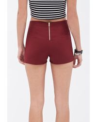 Forever 21 - Purple Zippered Woven Shorts - Lyst