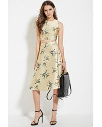Forever 21   Yellow Contemporary Leaf-print Top   Lyst