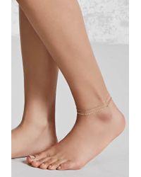 Forever 21 | Metallic Beaded Anklet Set | Lyst