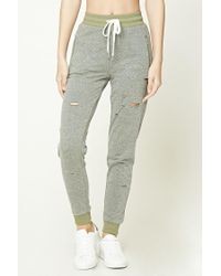 Forever 21 - Gray Raw-cut Joggers - Lyst