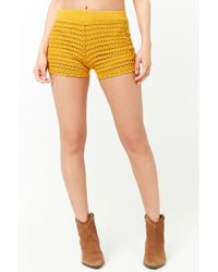 Forever 21 - Multicolor Scalloped Crochet Shorts - Lyst
