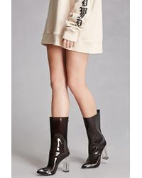 Forever 21 | Black Clear Pointed Boots | Lyst