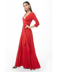 Forever 21 - Red Billowy Maxi Dress - Lyst