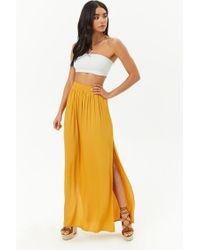 Forever 21 - Yellow Satin Maxi Skirt - Lyst
