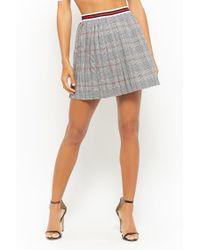 Forever 21 Multicolor Pleated Glen Plaid Mini Skirt
