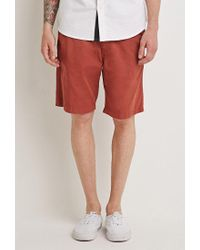 Forever 21 - Brown Cotton Drawstring Shorts for Men - Lyst