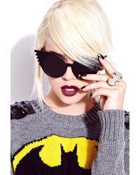 Forever 21 Metallic Glam Girl Batman Ring