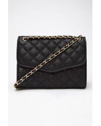 Forever 21 Black Quilted Faux Leather Shoulder Bag