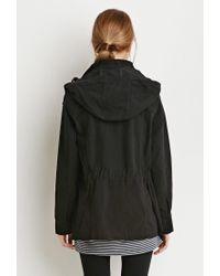 Forever 21 - Black Hooded Utility Jacket - Lyst