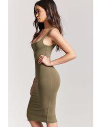 Forever 21 - Green Bodycon Midi Dress - Lyst
