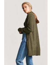 Forever 21 Green Boucle Knit Cardigan