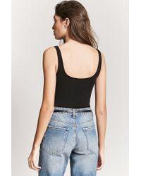 Forever 21 Black Sleeveless Scoop Back Bodysuit