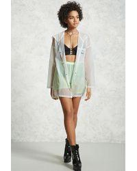 Forever 21 - White Transparent Nylon Jacket - Lyst