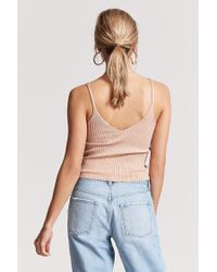Forever 21 Natural Ribbed Knit Cami Top