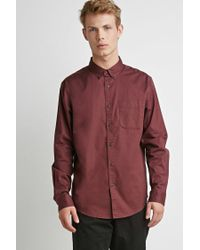 Forever 21 Green 's Classic Button-collar Shirt for men