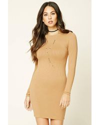 Forever 21 Natural Bodycon Knit Dress