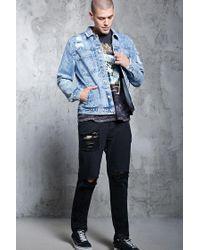 Forever 21   Blue Patch Pocket Denim Jacket for Men   Lyst