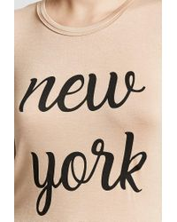 Forever 21 - Natural New York Graphic Tee - Lyst