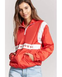 Forever 21 Red Mickey Mouse Graphic Anorak