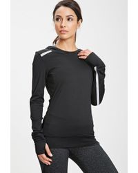 Forever 21 Black Active Reflective Workout Pullover You've Been Added To The Waitlist