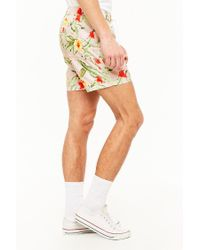 Forever 21 Multicolor 's Tropical Floral Print Swim Trunks for men