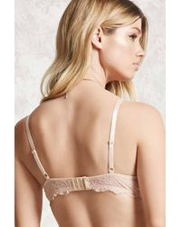 Forever 21 Natural Sheer Lace Balconette Bra