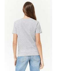 Forever 21 - Gray Heathered Mon Amour Graphic Tee - Lyst