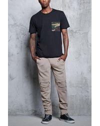 Forever 21 - Black Camo Print Pocket Tee for Men - Lyst