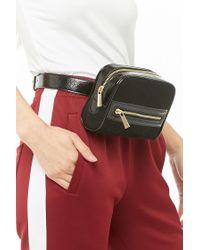 Forever 21 Black Faux Suede Belt Bag