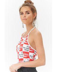 Forever 21 - Multicolor Women's Coca-cola Checkered Halter Top - Lyst