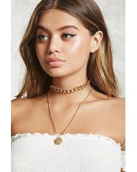 Forever 21 - Metallic Layered Choker Necklace - Lyst