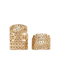 Forever 21 - Metallic Etched Ring Set - Lyst